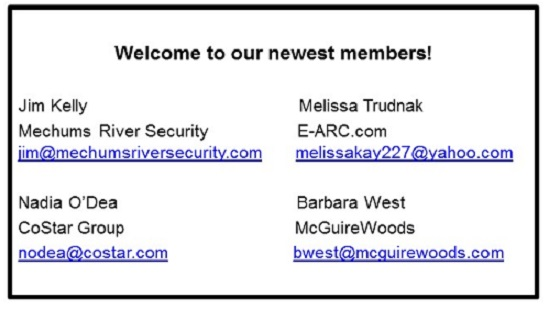 our newest membersSept 2017