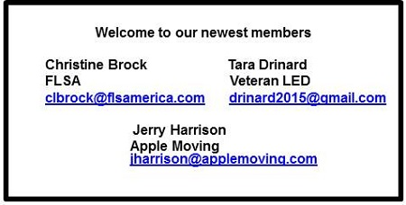 our newest members Apr 2019